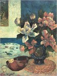 Still Life with Chinese Peonies and Mandolin 188
